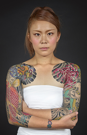 Tattoo by Horikiku. Photo by Kip Fulbeck.