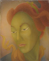 Hideo Date Cathleen, ca. 1930s. Oil on canvas, 10 x 8 inches (99.111.150)