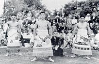 Asato Yamamoto, Mitsugu Hamanaka and Mitoki Kawaguchi, Fresno, California, June 1938.