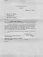 [Letter to Clara Breed from D. S. Myer, Washington, D.C., January 15, 1943]