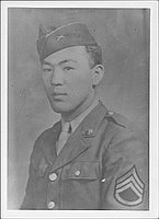 [Portrait of United States Army Staff Sergeant Shimatsu, half-portrait, ca. 1942-1945]