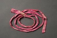 [Pink koshi himo (sash) with white dot design]