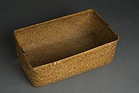 [Bottom half of yanagi gori (basket trunk), Hiroshima, Japan, ca. 1913]