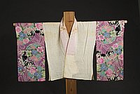 [Hanjuban (half underkimono) with Nihon-shishu embroidered collar and dog design on sleeves, Hawaii, 193-]