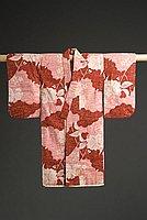 [Child's Hasami-nashi kimono with sakura and wave design, Hawaii, 1927]