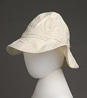 [Cream Portuguese-style dongarosu hat, Hawaii]