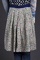 [Green calico print dirndl skirt with blue waistband, Ewa, Hawaii]