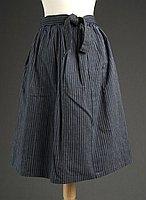 [Blue and gray striped dirndl skirt, Fukushima, Japan]
