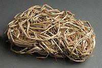 [Barley straw used to make waraji (sandals), Hiroshima, Japan]