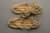 [Pair of barley straw waraji sandals]