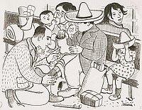 [Families preparing for evacuation, Berkeley, California, 1942]