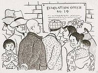 [Posting of Civilian Exclusion Order/Evacuation Order No. 19, Berkeley, California, 1942]