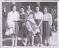 [Fumi Munekiyo leaving for Cleveland, Ohio, 1944]