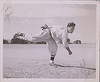 [Young man, Bill, pitching baseball, Heart Mountain, Wyoming, 1944]