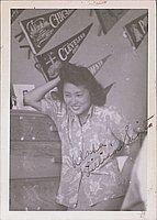 [Lillian Sugita in aloha shirt, Heart Mountain, Wyoming, ca. 1944-1945]