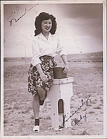 [Portrait of a young woman, Ruby, Heart Mountain, Wyoming, 1944-1945]
