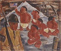 Nisei babies in concentration camp