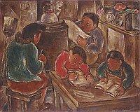 Family in Camp Room