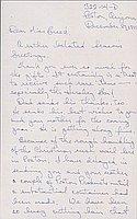[Letter to Clara Breed from Tetsuzo (Ted) Hirasaki, Poston, Arizona, December 29, 1943]