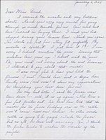 [Letter to Clara Breed from Louis Ogawa, Poston, Arizona, January 6, 1942]