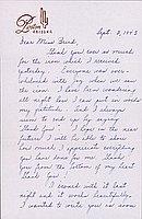 [Letter to Clara Breed from Louis Ogawa, Poston, Arizona, September 3, 1943]