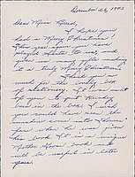 [Letter to Clara Breed from Margaret Ishino, Poston, Arizona, December 26, 1943]