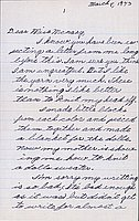 [Letter to Helen McNary from Katherine Tasaki, Poston, Arizona, March 5, 1943]