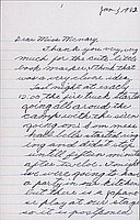 [Letter to Helen McNary from Katherine Tasaki, Poston, Arizona, January 1, 1943]