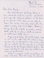 [Letter to Clara Breed from Tetsuzo (Ted) Hirasaki, Poston, Arizona, December 1, 1942]