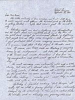 [Letter to Clara Breed from Fusa Tsumagari, Poston, Arizona, September 27, 1943]