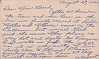 [Postcard to Clara Breed from Margaret Ishino, Poston, Arizona, July 18, 1942]