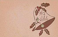 [Christmas card to Clara Breed from Fusa Tsumagari, Poston, Arizona, ca. 1942-1943]