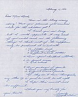 [Letter to Clara Breed from Margaret Ishino, Poston, Arizona, February 11, 1943]