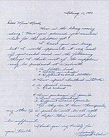 [Letter to Clara Breed from Margaret Ishino, Poston, Arizona, February 11, 1943]
