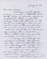 [Letter to Clara Breed from Margaret Ishino, Poston, Arizona, January 18, 1943]