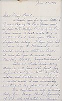 [Letter to Clara Breed from Louise Ogawa, Arcadia, California, June 24, 1942]