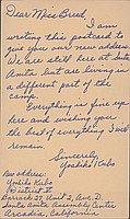 [Postcard to Clara Breed from Yoshiko Kubo, Arcadia, California, May 8, 1942]