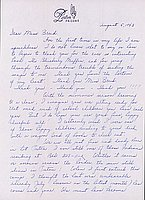 [Letter to Clara Breed from Louise Ogawa, Poston, Arizona, August 5, 1943]