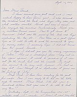 [Letter to Clara Breed from Louise Ogawa, Poston, Arizona, September 16, 1942]