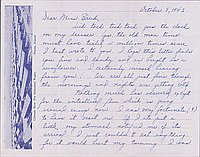 [Letters to Clara Breed from Louise Ogawa, Poston, Arizona, October 8, 1943]
