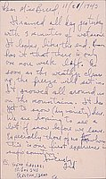 [Postcard to Clara Breed to Tetsuzo (Ted) Hirasaki, Newell, California, November 21, 1943]