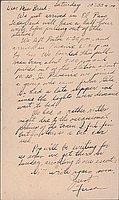 [Postcard to Clara Breed from Fusa Tsumagari, Crystal City, Texas, April 17, 1944]