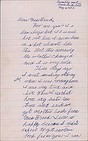 [Letter to Clara Breed from Elizabeth and Anna Kikuchi, Arcadia, California, May 6, 1942]