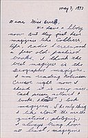 [Letter to Clara Breed from Katherine Tasaki, Arcadia, California, May 4, 1942]