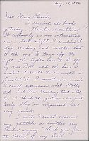 [Letter to Clara Breed from Louise Ogawa, Arcadia, California, August 14, 1942]