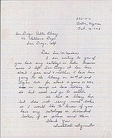 [Letter to San Diego Public Library from Fusatoshi Fujimoto, Poston, Arizona, October 15, 1943]