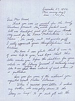 [Letter to Clara Breed from Fusa Tsumagari, Poston, Arizona, December 27, 1942]