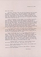 [Letter to Clara Breed from Margaret Ishino, Poston, Arizona, October 19, 1942]