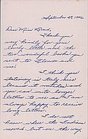 [Letter to Clara Breed from Margaret Ishino, Poston, Arizona, September 28, 1942]