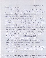 [Letter to Clara Breed from Hisako Watanabe, Poston, Arizona, May 29, 1943]